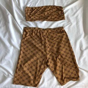 Crop top and biker shorts